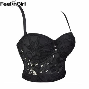 C 2018 New Women Bralette Bralet Sexy bra for women Top Black Bra Unpadded Brassiere Push Up Four Hook-and-eye Closures Lingerie