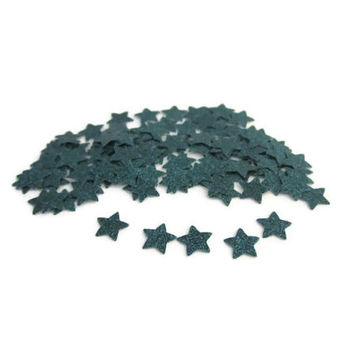 Mini Star Confetti, Emerald Teal Glitter, Cake Table Decor, Baby Shower, Bridal Shower, 100 Pieces