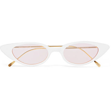Illesteva - Marianne cat-eye acetate and gold-tone sunglasses