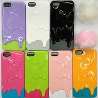 Newest fasion 3D Melt ice-Cream Melting Skin Hard Case Cover For i Phone 5 5G th