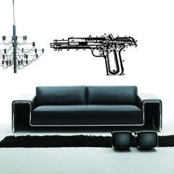 Colt Wall Sticker Decal Hand Gun Firearm Colt 1911 Gun Wall Art Decor 3812