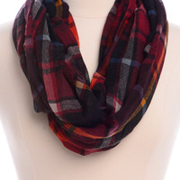 Mountain Top Scarf, Burgundy