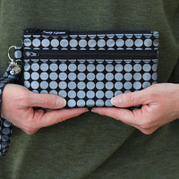 wristlet phone case - phone wristlet wallet for women - cell phone wallet - zipper wristlet purse - cell phone clutch - smartphone pouch