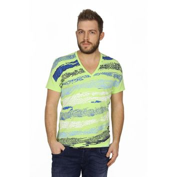 Just Cavalli mens t-shirt V neck S03GC0167 N20483 913