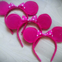 Sale 40% off 10 Pink Minnie Mouse Ears