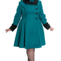 Hell Bunny Vintage Victorian Style Angeline Winter Coat
