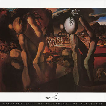 Salvador Dali Metamorphosis of Narcissus Poster 24x36