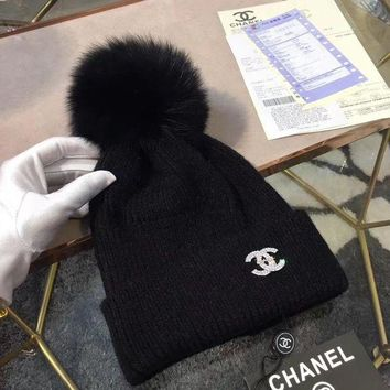 CHANEL Winter Trending Casual Women Simple Beanies Knit Hat Cap(4-Color) I