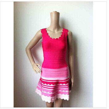 New Fashion Top Quality Pink Aline Bandage Dress Homecoming Bodycon Dress