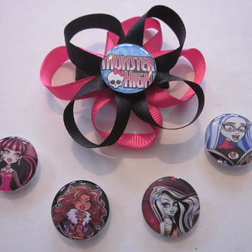 Monster High Interchangeable Hairbow Created By Sweetpeas Bows & More