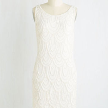 Roaring Reception Dress in White | Mod Retro Vintage Dresses | ModCloth.com