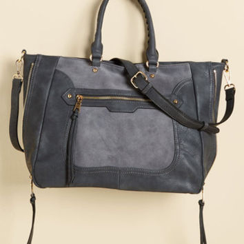 Tasks All Over Town Bag in Charcoal | Mod Retro Vintage Bags | ModCloth.com