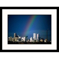 Great American Picture Rainbow Over Denver Skyline I Framed Photograph - Sally Brown - IS468555A - All Wall Art - Wall Art & Coverings - Decor