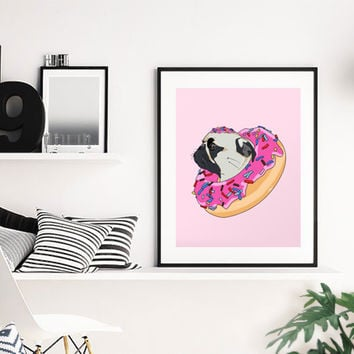 Pug Donut Strawberry Profile by L  O  S  T  A  N  A  W
