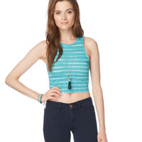 Aeropostale  Womens Striped Crop Tank Top
