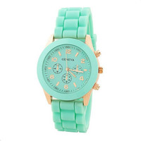 Mint Color Silicone Watch XCD007
