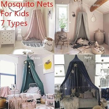 Fashion 240cm Baby Room Decoration Home Bed Curtain Round Crib Netting Baby Tent Cotton Hung Dome Baby Mosquito Net Photography