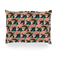 "Tobe Fonseca ""Sushi Panda"" Orange Blue Oblong Pillow"