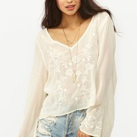 Rose Embroidered Top