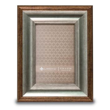 4x6 Tatum Silver And Gold Picture Frame