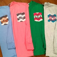 LONG SLEEVED Personalized Monogrammed T-shirts