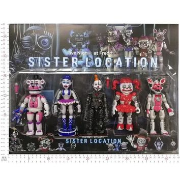 at  Toys Action Figure With LED Light Horror Game Funtime Freddy Ballora Circus Baby's Pizza World Figurine