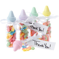 Baby Bottles Plastic Favor Kits: 24-Piece Tub
