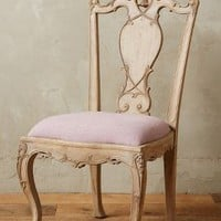 Handcarved Tassel Armless Dining Chair by Anthropologie