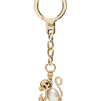 Kate Spade Pearl Monkey Keychain Cream Multi ONE