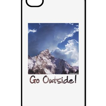 Go Outside Mountain iPhone 4 / 4S Case  by TooLoud