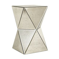 West Elm Faceted Foxed Mirror Side Table from West Elm | BHG.com Shop