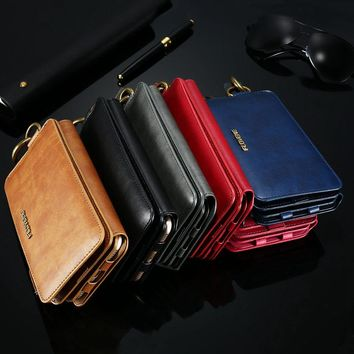 PU Leather Case For iPhone X 8 7 6s 6 Plus 5 5s SE Wallet Case Cover