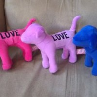 "Victoria's Secret Pink 7"" Plush Velour ""Love"" Dog"