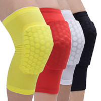 Basketball Knee Support Honeycomb Sponge Pad Gel Sports Soccer Gym Brace Sport Safety Kneepad Padded Sleeve Knee Protector ISP