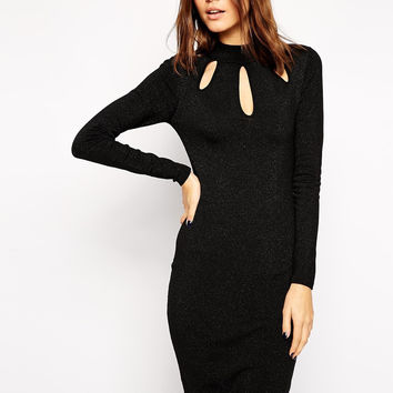 Peacock Ripped Holes Silver One Piece Dress [4966035460]