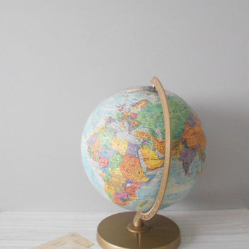 1960s repogle world globe // raised relief atlas // by simplychi