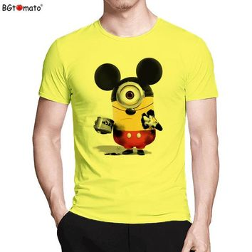Anime T-shirt graphics BGtomato T shirt Super cute Mickey minions funny t shirts Creative style hot sale summer cool t-shirt men cartoon anime t shirt AT_56_4