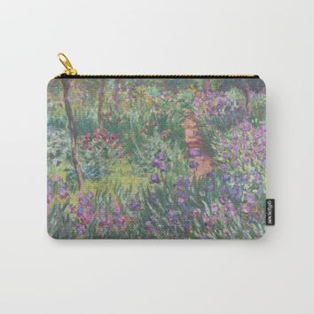 Monet's garden at Giverny Carry-All Pouch by anipani