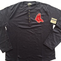 Boston Red Sox Fleece Henley by Red Jacket