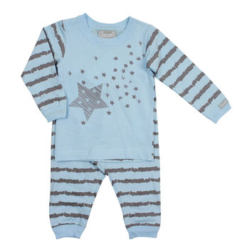 Coccoli Baby Boys' Blue Floating Stars Pajama