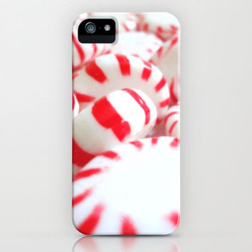 Peppermint Cell Phone Cover, Christmas, Holiday, red, white, swirl, food, yum, sweet, candy, treat,  iPhone, Samsung, lollies, mint