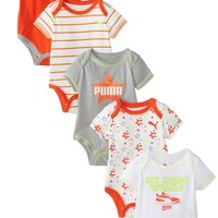 PUMA Baby-Boys Newborn 5 Pack Cherry Tomato Creeper Set