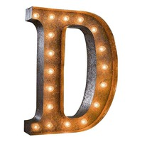 "Pre-owned 24"" Vintage Marquee Light - Letter D"