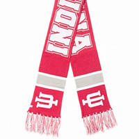 "Indiana Hoosiers Red ""Breakaway"" Scarf with Tassels - NCAA Men's Knit Scarves"