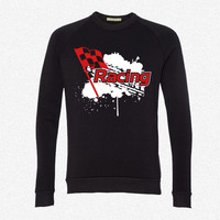 Racingssssss fleece crewneck sweatshirt