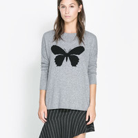 OVERSIZE JACQUARD SWEATER - Woman - New this week | ZARA United States