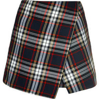 ASYMMETRIC CHECK SKORT