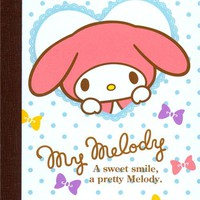 My Melody bunny and ribbons mini notepad exercise book - Memo Pads - Stationery