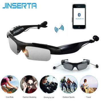 JINSERTA Smart Bluetooth Sunglasses Outdoor Sun Glasses Wireless Bluetooth Earphones Earbuds Music for Smart Phones
