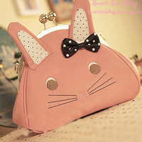 Cutie Bunny Shoulder Purse w/ Removable Strap
